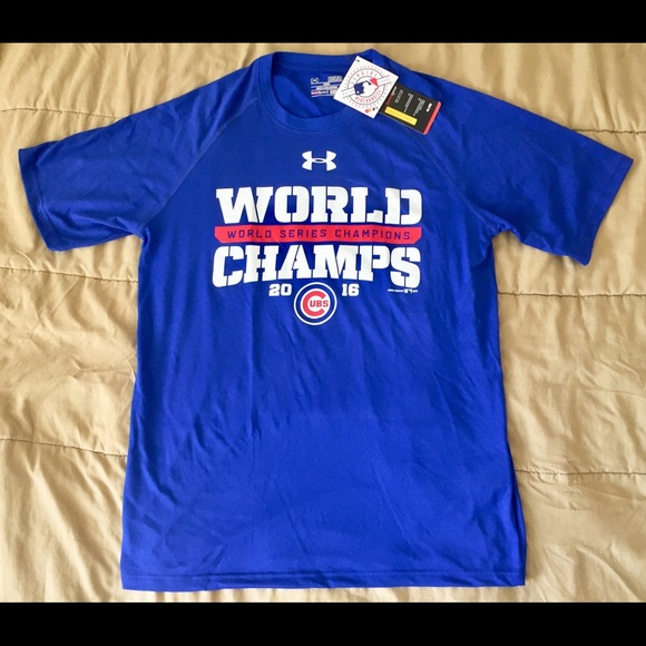 b058ca497441c Under Armour Chicago Cubs 2016 WORLD Champs Sz Med